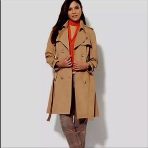 New York & Company Gray Trench Coat. Large. EUC